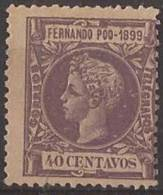 FPOO65-LB252TAN.Guinee.Guinea Español..ALFONSO   Xlll.FERNANDO POO.Alfonso Xlll.1899.(Ed 65*) Con Charnela.MAGNIFICO. - 1875-1882 Reino: Alfonso XII