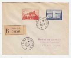 30-FOIRE DE NIMES Rond 1952 / TP.841A.922 Recommandé Pour Civray - Marcophilie (Lettres)
