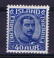 Iceland: Michel 103  1921 MH/*, - 1918-1944 Autonoom Bestuur
