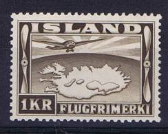 Iceland: Michel 179B  1934 MNH/**, Airmail - Poste Aérienne