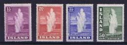 Iceland: Michel 193-196  1938 MH/* - 1918-1944 Autonoom Bestuur