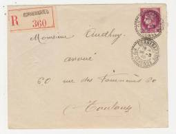 31-CORNEBARRIEU Rond Tirets 1940 / TP.376 Pour Toulouse Recommandé.. - Postmark Collection (Covers)