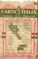 M-SCIACCA-CARTINA DEL TOURING CLUB ITALIANO(ANNI 30-40) - Agrigento