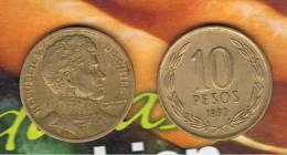 CHILE -  10 Pesos 1993  KM228 - LIBERTADOR. B. O'HIGGINS  - - Chile