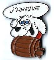 BD41 - J'ARRIVE - CHIEN Avec TONNELET - Verso : SM - BD
