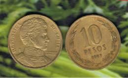 CHILE -  10 Pesos 1997  KM228 - LIBERTADOR. B. O'HIGGINS  - - Chile