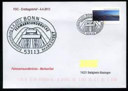 27169) BRD - Michel 3003 Gestanzt - FDC - ESST 53113 BONN - 50 Jahre Fehmarnsundbrücke - Bridge - Bruggen
