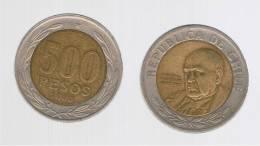 CHILE -   500 Pesos  2000  KM235  -  Cardinal Raul Silva Henriquez - Chile