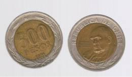 CHILE -   500 Pesos  2001  KM235  -  Cardinal Raul Silva Henriquez - Chile