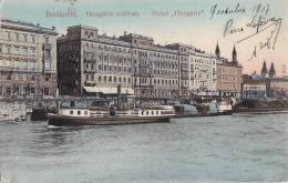Hongrie - Budapest -  Hotel Hungaria - Bâteau Péniche - Postmarks Budapest Paris Tours - Hungary