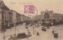 Hongrie - Budapest -  Ostbahnhof - Gare De Chemins De Fer - Postmark Budapest Ferryville 1913 - Hungary