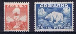 Greenland 1946 Mi 26+27 MNH/** - Ongebruikt