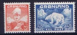 Greenland 1946 Mi 26+27 MNH/** - Neufs