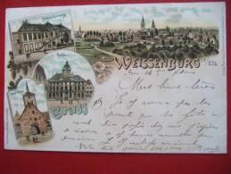 ALLEMAGNE - WEISSENBURG I / ELS - CIRCULEE EN 1897 - BELLE CARTE - - Weissenburg