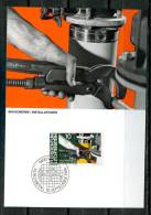 "Liechtenstein 1984 Maxicart  Mi.Nr.850 ,MK "" Berufe:Baugewerbe,Monteur,,Bauklempner"" 1 MK Used - Factories & Industries"