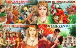 NUOVE-(Mint)-41/44- SAN MARINO -SERIE FILM-  4 SCHEDE - San Marino