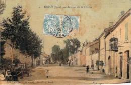32 - Riscle - Avenue De La Rivière (colorisée, Toilée) - Riscle