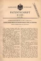 Original Patentschrift - S. Beine In Huy , 1899 , Horizontal Drehendes Wasserrad , Motor , Wasserpumpe !!! - Historical Documents