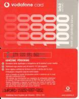 ALBANIA - Vodafone Prepaid Card 1000 Leke, Used - Albanie