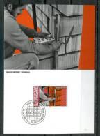 """Liechtenstein 1984 Maxicart  Mi.Nr.858 ,MK """" Berufe:Baugewerbe,Maurer,Bauarbeiter"""" 1 MK Used - Factories & Industries"""