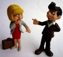 2 figurines Maman et papa de BOULE ET BILL , Schleich - ROBA - 1985
