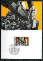"""Liechtenstein 1984 Maxicart  Mi.Nr.855 ,MK """" Berufe:Baugewerbe,Tischler,Innenausbau"""" 1 MK Used - Factories & Industries"""