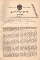 Original Patentschrift - E. Rockhausen In Waldheim I.S., 1902 , Zierleisten Mit Metallkleid , Verzierung !!! - Historische Dokumente
