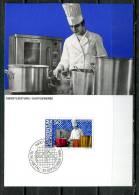 """Liechtenstein 1984 Maxicart  Mi.Nr.854 ,MK """" Berufe:Gastgewerbe,Koch,K üchenarbeiter,"""" 1 MK Used - Factories & Industries"""