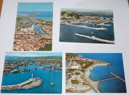 SETE - 34 - Lot 4 CPSM / CPM : Vue Panoramique Aérienne Sur La Ville, Le Port, Le Canal,la Corniche Et Le Mont St Clair. - Sete (Cette)