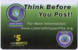 MICRONESIA - Remote Memory 5$ Card , Think Before You Post!, Used - Micronesia