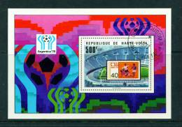 UPPER VOLTA - 1978 Football World Cup Miniature Sheet Used As Scan - Upper Volta (1958-1984)