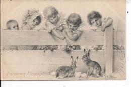 ENFANTS Et Lapins - Illustrateur MM VIENNE - Vienne