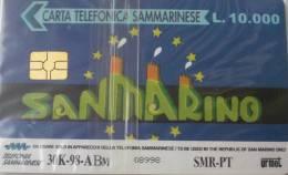 NUOVA-(Mint)-34- SAN MARINO -EUROPA CARD SHOW-CARTA A CHIP - San Marino