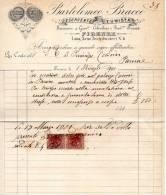 1900   FATTURA  BARTOLOMEO BRACCO ESERCENTE FUMISTA FIRENZE - Italia