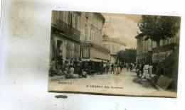 Saint-Chamas  13     La  Rue Gambetta  Tres-tres  Animée- Café -Mercerie - Autres Communes