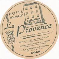 FRANCE AGEN HOTEL LE PROVENCE VINTAGE LUGGAGE LABEL - Hotel Labels