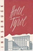 AUSTRIA INNSBRUCK HOTEL TYROL VINTAGE LUGGAGE LABEL - Hotel Labels