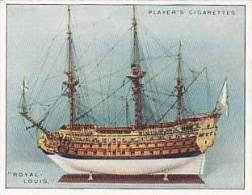 Player Vintage Cigarette Card Ship Models 1926 No 8 Royal-louis 1692 - Player's