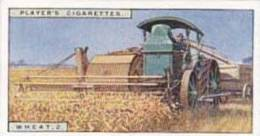 Player Vintage Cigarette Card Products Of The World 1928 No 48 Wheat 2 Combine At Work Canada - Player's
