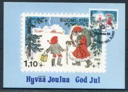 1984 Finland Christmas Koln Germany Aland Stamp Exhibition Maxicard - Aland
