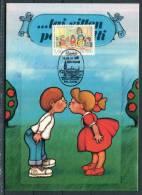 1988 Finland Den Haag Filacept Romance Kiss Maxicard - Maximum Cards & Covers