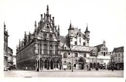 Publicité-Chocolat Martougin-Mechelen (Malines) Stadhuis En Oude Lakenhallen-Hôtel De Ville-Halle Aux Draps-Vintage Cars - Publicité