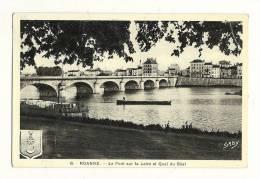 Cp, 42, Roanne, Le Pont Sur La Loire Et Quai Du Béal, Voyagée 1939 - Roanne