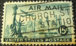 United States 1947 New York City And Statue Of Liberty 15c - Used - Etats-Unis