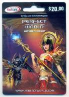 Perfect World Games On Line  U.S.A., Game Card, Carte Pour Collection Sans Valeur  # 100 - Gift Cards