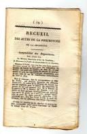 Ced , Recueil Des Actes De La Préfecture De La Charente  , 1814 , N° 79 , 14 Pages , Frais Fr : 1.60€ - Décrets & Lois