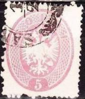 Lombardei-Venetien 1863 Doppeladler 5 So Rosa Zähnung K 14 Mi 16 - Oostenrijkse Levant
