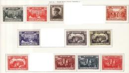 Monaco (C) 1922-23 Y&T N°54 à 64 * - Série Prince Albert 1er - Neufs