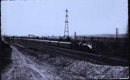 LOCOMOTIVE 231 AVEC DRAPEUX FRANCAIS CP PHOTO DE BREHERET 1956 - Treinen