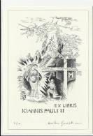 Cartolina  EX LIBRIS IOANNIS PAULI II CIRCOLO FILATELICO TIRANESE TIRANO NUMERATA - Non Classificati